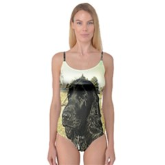 Black English Cocker Spaniel  Camisole Leotard
