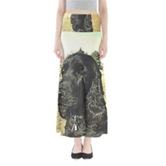 Black English Cocker Spaniel  Maxi Skirts