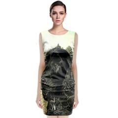 Black English Cocker Spaniel  Classic Sleeveless Midi Dress