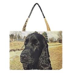 Black English Cocker Spaniel  Medium Tote Bag