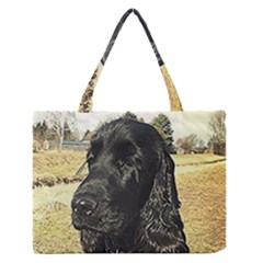 Black English Cocker Spaniel  Medium Zipper Tote Bag