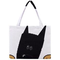 Peeping German Shepherd Bi Color  Mini Tote Bag