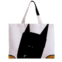 Peeping German Shepherd Bi Color  Zipper Mini Tote Bag