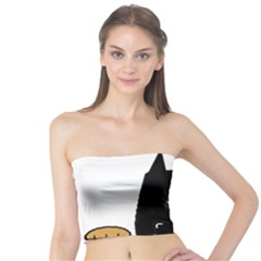 Peeping German Shepherd Bi Color  Tube Top