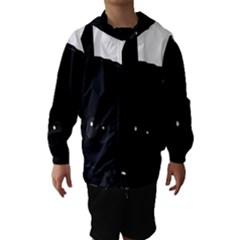 Peeping German Shepherd Bi Color  Hooded Wind Breaker (Kids)