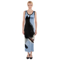 Karelian Bear Dog Fitted Maxi Dress