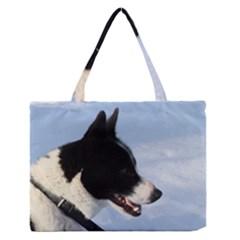 Karelian Bear Dog Medium Zipper Tote Bag