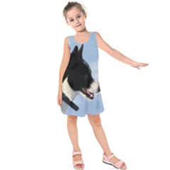 Karelian Bear Dog Kids  Sleeveless Dress