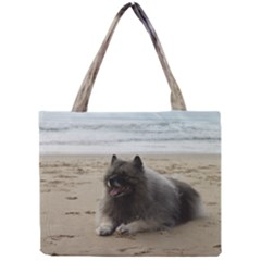 Keeshond On Beach  Mini Tote Bag
