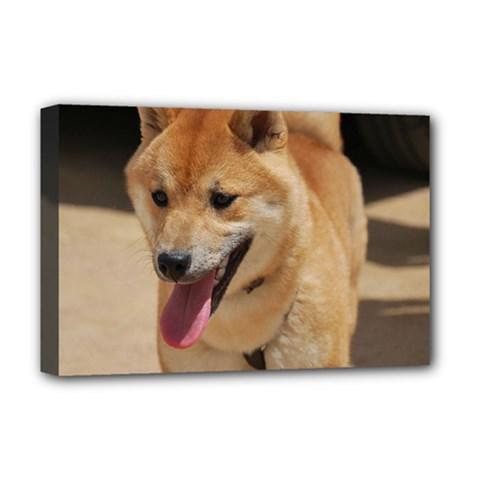 4 Shiba Inu Deluxe Canvas 18  x 12