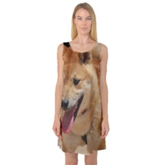 4 Shiba Inu Sleeveless Satin Nightdress