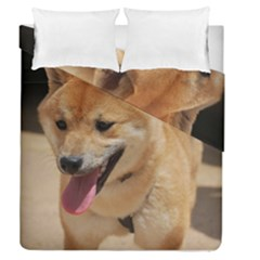 4 Shiba Inu Duvet Cover Double Side (Queen Size)