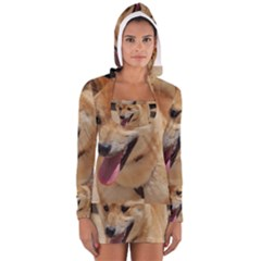 4 Shiba Inu Women s Long Sleeve Hooded T-shirt