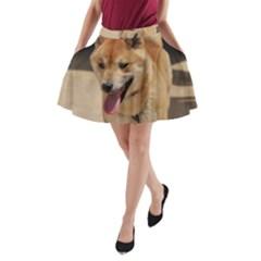 4 Shiba Inu A-Line Pocket Skirt