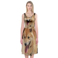 4 Shiba Inu Midi Sleeveless Dress