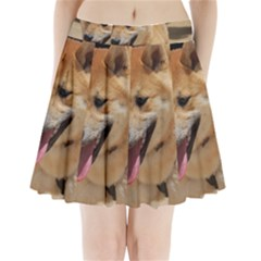 4 Shiba Inu Pleated Mini Skirt