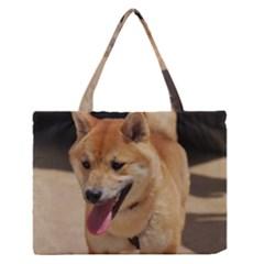 4 Shiba Inu Medium Zipper Tote Bag