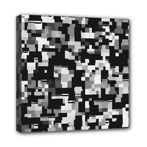 Noise Texture Graphics Generated Mini Canvas 8  x 8