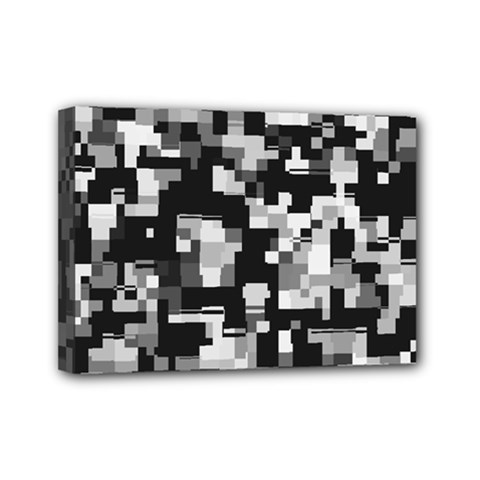 Noise Texture Graphics Generated Mini Canvas 7  x 5