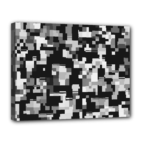 Noise Texture Graphics Generated Canvas 14  x 11