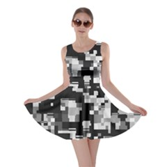 Noise Texture Graphics Generated Skater Dress