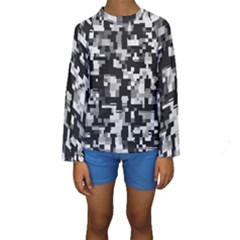 Noise Texture Graphics Generated Kids  Long Sleeve Swimwear