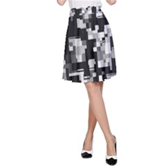 Noise Texture Graphics Generated A-Line Skirt