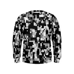 Noise Texture Graphics Generated Kids  Sweatshirt