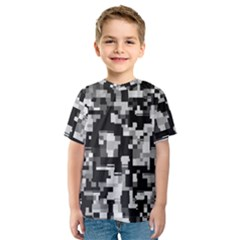 Noise Texture Graphics Generated Kids  Sport Mesh Tee