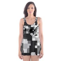 Noise Texture Graphics Generated Skater Dress Swimsuit