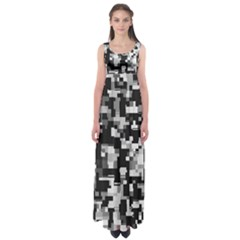 Noise Texture Graphics Generated Empire Waist Maxi Dress
