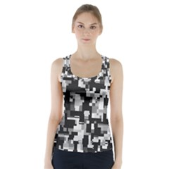 Noise Texture Graphics Generated Racer Back Sports Top
