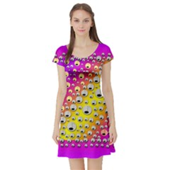 Happy And Merry Music Short Sleeve Skater Dress