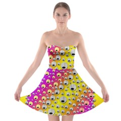 Happy And Merry Music Strapless Bra Top Dress