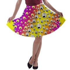 Happy And Merry Music A Line Skater Skirt