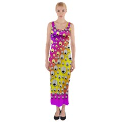 Happy And Merry Music Fitted Maxi Dress