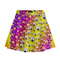 Happy And Merry Music Mini Flare Skirt