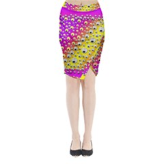 Happy And Merry Music Midi Wrap Pencil Skirt