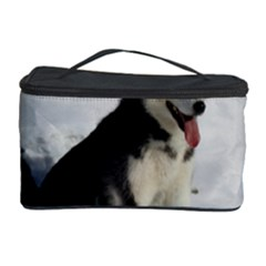 Siberian Husky Sitting in snow Cosmetic Storage Case