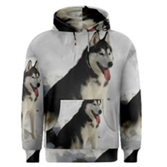 Siberian Husky Sitting in snow Men s Pullover Hoodie