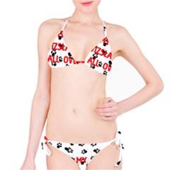 My Vizsla Walks On Me  Bikini Set