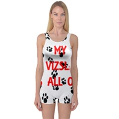 My Vizsla Walks On Me  One Piece Boyleg Swimsuit
