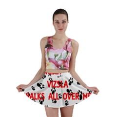My Vizsla Walks On Me  Mini Skirt
