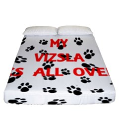 My Vizsla Walks On Me  Fitted Sheet (California King Size)