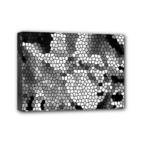 Mosaic Stones Glass Pattern Mini Canvas 7  x 5