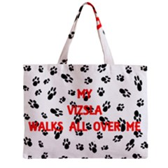 My Vizsla Walks On Me  Zipper Mini Tote Bag