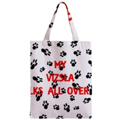 My Vizsla Walks On Me  Zipper Classic Tote Bag