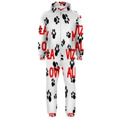 My Vizsla Walks On Me  Hooded Jumpsuit (Men)