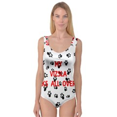 My Vizsla Walks On Me  Princess Tank Leotard