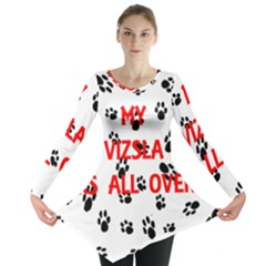 My Vizsla Walks On Me  Long Sleeve Tunic